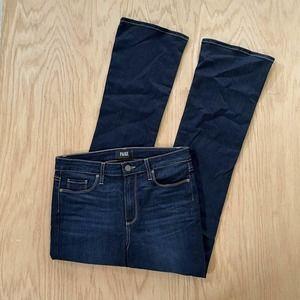 Womens PAIGE High Rise Manhattan Wide Leg Stretch Jeans Sz 29